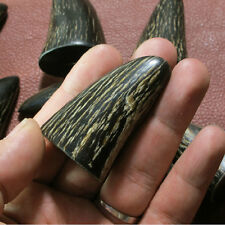 Natural OX Horn Carving Seal Stamp Black OX Bull Horn
