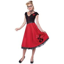 50s Costumes for Women Adult Poodle Skirt Costume Halloween Fancy Dress