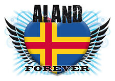Brand NEW Printed T-SHIRT Quality ALAND FOREVER Flag, All Sizes, All Colours