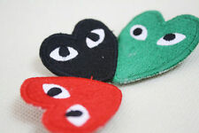 NEW PLAY japan Knitting cdg comme des garcons love heart brooch 1pcs 3color
