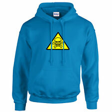 POISON TOXIC warning symbol HOODIE many colours & sizes