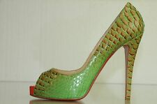 $1395 New CHRISTIAN LOUBOUTIN Very Prive 120 PYTHON Fairy Tale Pumps SHOES 41