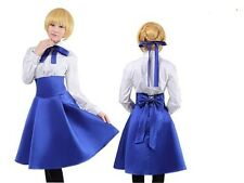 Fate Stay Night Casual Saber Dress Cosplay Costume NEW