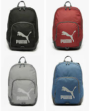 Puma backpack rucksack bag school gym sports red blue grey black Mens Boys