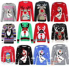 Do you want to build a Snowman Christmas Sweater Jumper Top Xmas Plus Size 8-28