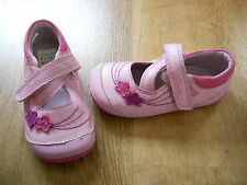 CLARKS baby girls pink leather Cruising Shoes Lyla Girl UK 5 F EUR 21.5 NEW