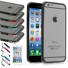 Shockproof Hybrid Bumper Case For Apple iPhone 6 (4.7) + Matte Screen Protector