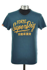 New Mens Superdry Factory Second Ticket Type T-Shirt Blue Bottle