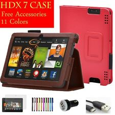 For Amazon Kindle Fire HDX 7 HDX7 Slim Leather Smart Cover Stand wake/sleep Case