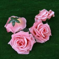 """20pcs Artificial Silk Roses Fake Flower Heads Wedding Party Decor 3.15""""#4 Colors"""