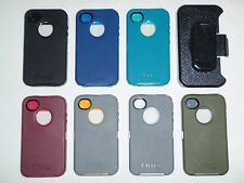 Otterbox Defender Case With Black Holster For iPhone 4/4S {Blue/Pink/Teal/Grey}