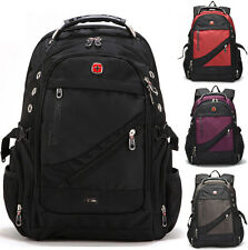 "SwissGear Waterproof Men Women Backpack Travel Rucksack 15"" 17"" Laptop Schoolbag"