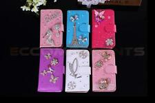 Newest Luxury Bling Crystal Diamond Wallet Leather handmade Case For Cell Phone
