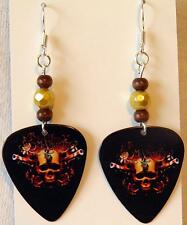 NEW! Handmade in USA Guitar Pick Earrings with Beads - BULLET FOR MY VALENTINE