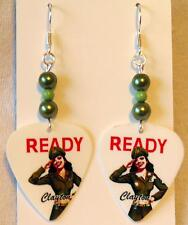 NEW! Handmade in USA Guitar Pick Earrings with Beads - MILITARY HOTTIES Girls