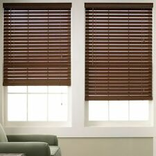 Wood Grain Faux Wood Blinds - 3 Colors - Free Shipping