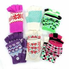 Womens Winter Warm Flip Fingerless/Full Finger Gloves Mittens Gloves 1Pair A72