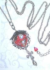 NEW Jack Skellington Long Necklace ~ Nightmare Before Christmas Halloween Goth