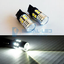 2x High Power Bright White Car LED Back up/Reverse Bulbs CREE Q5 Projector Lens