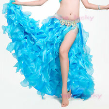New High Quality Professional Belly Dance Waves slit Skirt Dress 7 colours