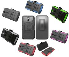 NEW SHOCK REFINED ARMOR HARD BELT CLIP CASE for HTC Desire 610 cell phone