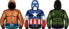 Deadpool Hulk Thing Captain America Iron Marvel Costume Sublimation Hoodie Shirt