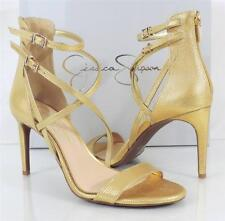 Women's Shoes Jessica Simpson MYELLE  High Heels Leather Sandals Gold Metallic