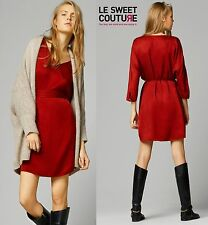 MASSIMO DUTTI (ZARA COMPANY) RED CURPO DRESS NEW SEASON AW14 R.6638/949
