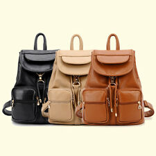 New Fashion Women Girls' PU Leather Backpack School Bookbags Travel Shoulder Bag