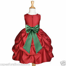 CHRISTMAS PARTY HOLIDAY FLOWER GIRL DRESS WEDDING SMALL MEDIUM LARGE 2 4 6 8 10