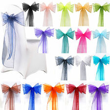 Organza Chair Cover Sash Bow Wedding Anniversary Party Reception Decoration Bows
