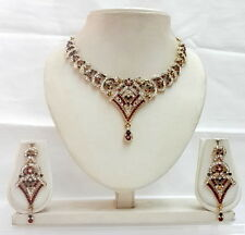 Designer Indian Swarovski Diamante Fashion Jewellery Necklace Earring Sets