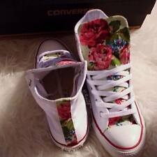 Converse All Star in tela Fiori Flowers Floral Multicolor Rose Roses Handmade