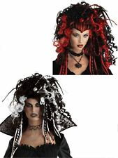 NEW WOMENS LADIES GOTHIC VAMPIRE DELUXE WIG GLAMOUR WITCH FANCYDRESS HALLOWEEN