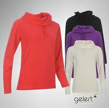 Womens Ladies Gelert Cowl Neck Fleece Long Sleeve Top Size 8 10 12 14 16 18