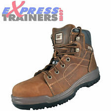 Caterpillar Mens CAT Dimen Hi Workwear Safety Steel Toe Boots Brown *AUTHENTIC*