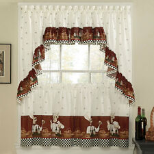 Savory Chefs Printed Kitchen Curtain