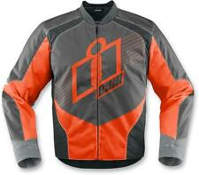Icon Overlord Mens Textile Motorcycle Riding Jacket Orange Black