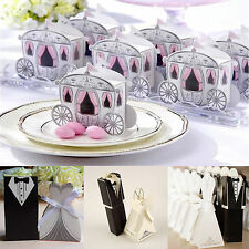 New Wedding Favor Candy Chocolate Box Dress Party Anniversary Ribbon Gift Boxes