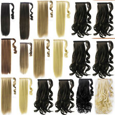 High quality natural synthetic Wrap Around clip in ponytail hair extensions ZA