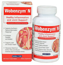 Garden of Life WOBENZYM N Inflammation & Joint Support 100 or 200 tablets