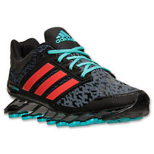 New Adidas Springblade Drive Men's Running Shoes - Black/Turquoise/Orange
