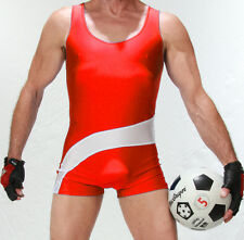 Mens Teddy Personality Wrestling singlet Body Building Tight Suit One piece suit