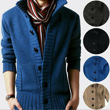 Hot New Mens Slim Fit Knitted Cardigan Pullover V-neck Sweater Tops Coat Jacket