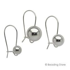 Various 925 Sterling Silver High Polish Euro Ball Round Drop Earrings Ear Rings