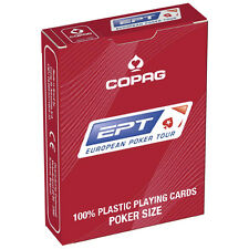 COPAG EPT European Poker Tour Official 100% Plastic Playing Cards Jumbo Index UK
