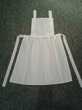 LADIES WHITE APRON PINAFORE PINNY Victorian Tudor Edwardian Maid FANCY DRESS