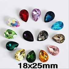 72PCS 18x25mm Teardrop rhinestones beads crystals For Jewelry Making Pick colors