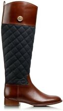 **TORY BURCH ROSALIE RIDING BOOT**  Almond/Charcoal - size 7 and 8 - BRAND NEW