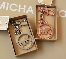Michael Kors Medallion Purse Charm key Chain/Ring Available in Rose Gold & Silve